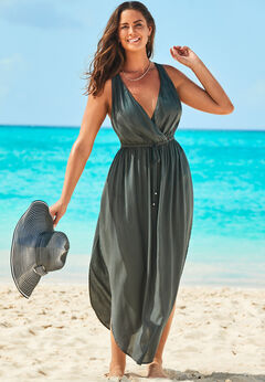 Tenley Surplice Cover Up Maxi Dress available from SwimsuitsForAll, Click for more Details