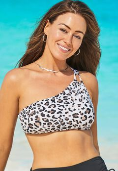 Virtuoso One Shoulder Bikini Top available from SwimsuitsForAll, Click here to visit their site.