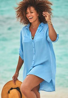 Lyla Button Up Cover Up Shirt