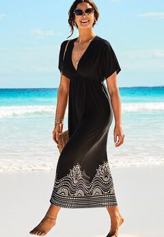 Kate V-Neck Cover Up Maxi Dress available from SwimsuitsForAll, Click for more Details