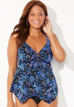 Crossback Handkerchief Tankini Top