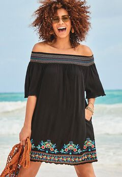 Rhiannon Embroidered Cover Up Dress