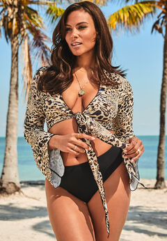 Ashley Graham Cover Up Crop Top