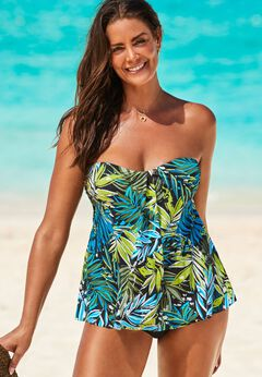 Flyaway Bandeau Tankini Set available from SwimsuitsForAll, Click for more Details