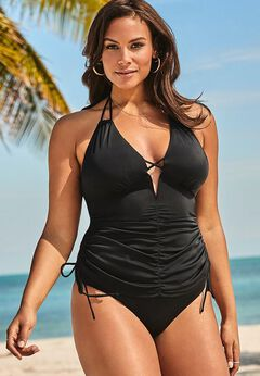 Ashley Graham Plunge Tankini Set