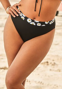 Ashley Graham High Waist Bikini Bottom available from SwimsuitsForAll, Click here to visit their site.