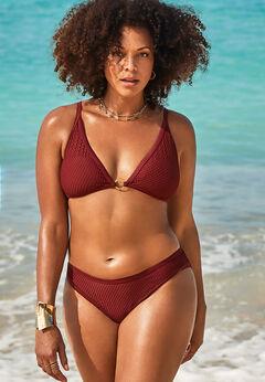 GabiFresh Knit Mesh Overlay Bikini Set