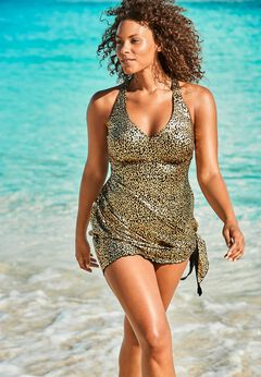 Multi-Style Convertible Swim Dress available from SwimsuitsForAll, Click here to visit their site.