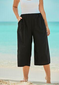 Wide-Leg Culotte Pant