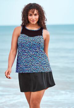 High-Neck Swim Tankini Top