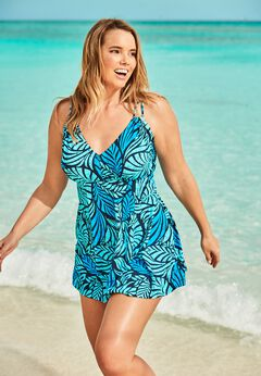 Two-Piece Swim Dress available from SwimsuitsForAll, Click for more Details