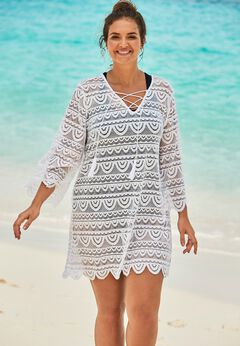 Scallop Lace Cover Up available from SwimsuitsForAll, Click for more Details