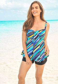 Flyaway Tankini Top with Bust Support