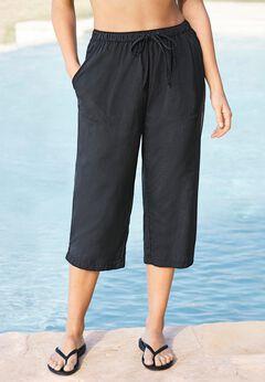 Taslon® Capri Coverup Pant