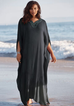 Long Embellished Cover Up available from SwimsuitsForAll, Click for more Details