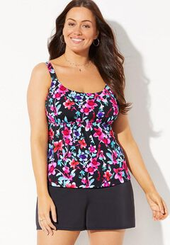 Flared Tankini Set with Short