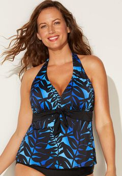 Halter Tankini Top available from SwimsuitsForAll, Click for more Details