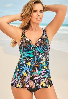 Bra Sized Sweetheart Underwire Tankini Set available from SwimsuitsForAll, Click for more Details