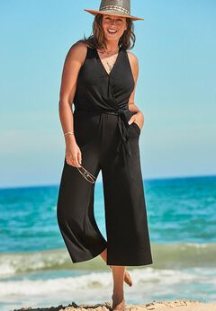 Ava Racerback Jumpsuit available from SwimsuitsForAll, Click for more Details