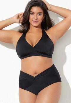 Diva Halter Bikini Set With Twist Front Brief