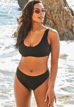 Ashley Graham Executive Underwire Bikini Set available from SwimsuitsForAll, Click here to visit their site.