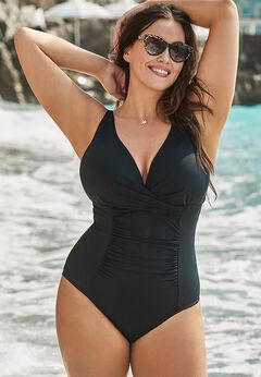 Twist Ruched One Piece Swimsuit