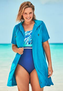Hooded Terry Swim Cover Up
