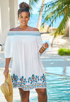 Off-The-Shoulder Cover Up