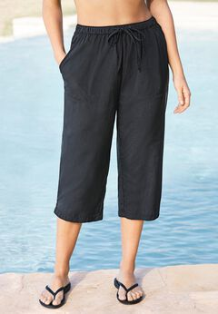 Taslon Capri Coverup Pant available from SwimsuitsForAll, Click for more Details