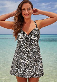 Tie Front Underwire Swimdress
