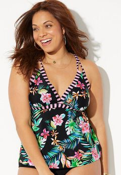 Loop Strap Tankini Top
