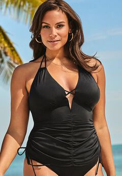 Ashley Graham Plunge Tankini Top