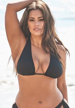Ashley Graham Elite Triangle Bikini Top available from SwimsuitsForAll, Click for more Details