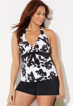 Halter Tankini Set with Banded Short