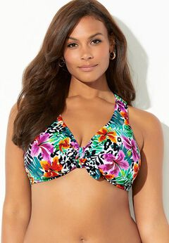 Genius Cross Back Bikini Top available from SwimsuitsForAll, Click for more Details