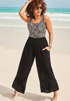 Kennedy Smocked Waist Beach Pant