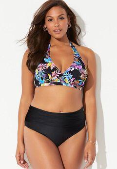 Diva Halter Bikini Set with Foldover Brief