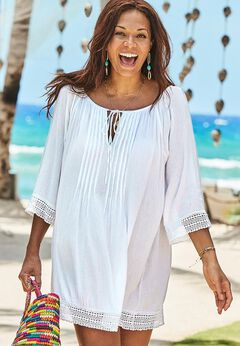 Giana Crochet Cover Up Tunic available from SwimsuitsForAll, Click for more Details