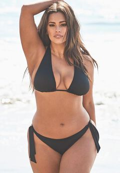 Ashley Graham Elite Triangle Bikini Set available from SwimsuitsForAll, Click for more Details
