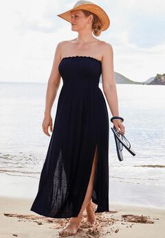 Strapless Maxi Dress Swimsuit Cover Up