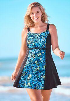Colorblock Swim Dress