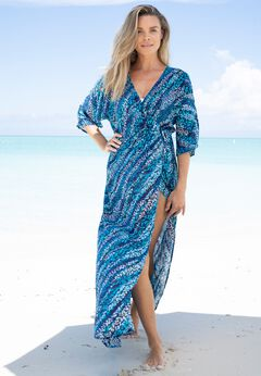 Faux-Wrap Swim Cover Up