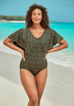 Flutter-Sleeve One-Piece