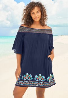 Off-The-Shoulder Cover Up available from SwimsuitsForAll, Click for more Details