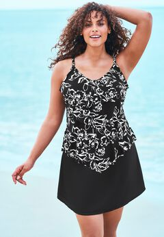 V-Neck Tiered Tankini