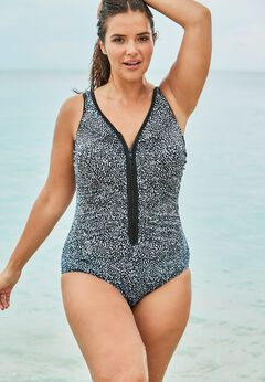 Zip-Front One Piece with Front Zipper