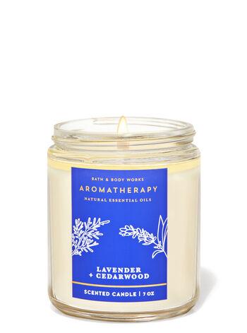 Aromatherapy   Lavender Cedarwood   Single Wick Candle