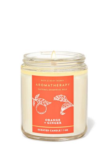 Aromatherapy   Orange Ginger   Single Wick Candle