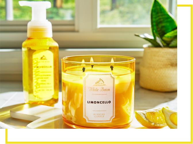 Свеча с ароматом цитрусовых и ароматическая свеча с лимоном