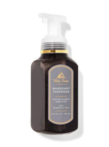 White Barn   Mahogany Teakwood   Gentle Foaming Hand Soap